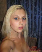 Naked blonde girl